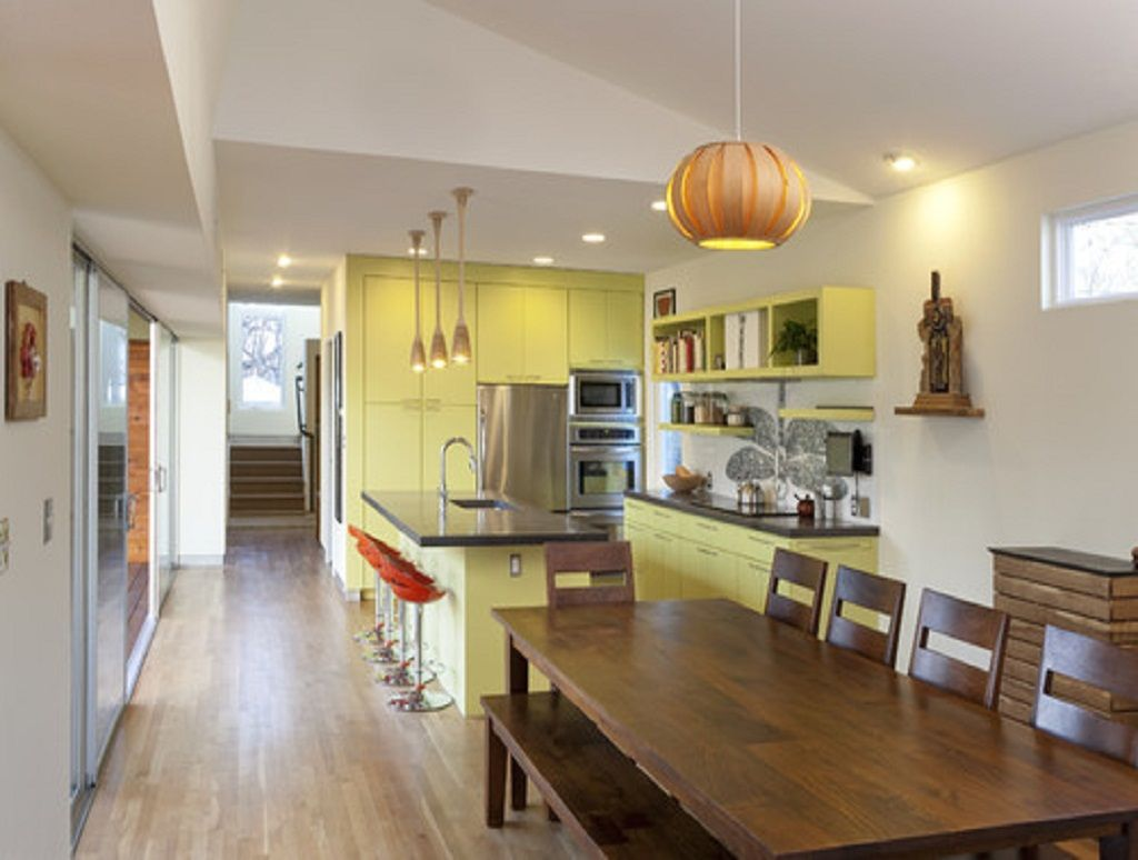 Yellow Kitchen Cabinet Paint with Moonraker and Snowbound Sherwin ...