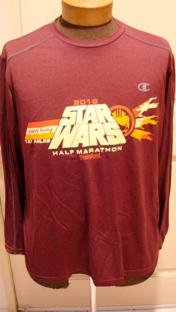 Disney Star Wars 2016 Half Marathon Shirt Long Sleeve in Collectibles, Disneyana, Contemporary (1968-Now) | eBay