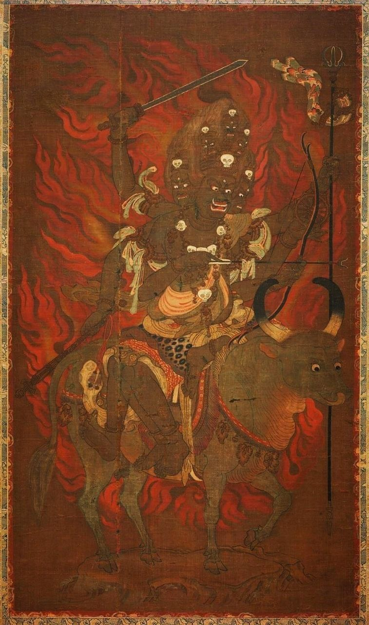 Yamaraja Buddhist Art Buddhist Artwork Japan Art