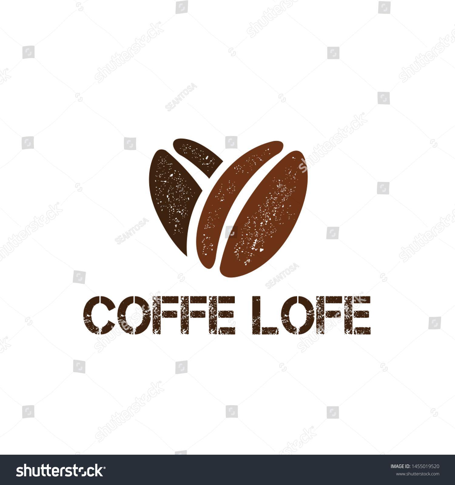 Coffee Love Logo Design Tamplete in 2020 Coffee bean