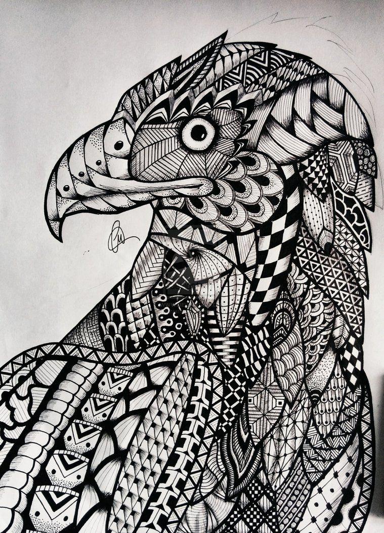 Zentangle Eagle by lukemac on DeviantArt | Art | Pinterest ...