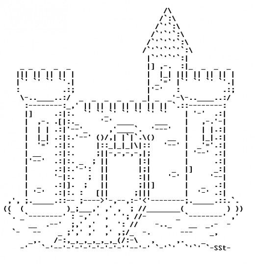 Castles in ASCII Text Art | Pretty | Text message art, Ascii