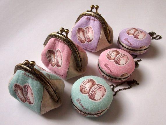 6cm Macaron gioielli Pouch / amaretto / Coin Purse di Chikaberry