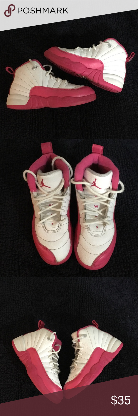Jordan retro Pink & white size 13 only signs of wear is on the inside tongue of sneaker Shoes Sneakers