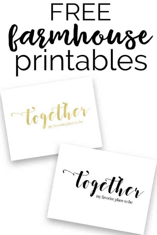 free farmhouse style printables inexpensive home decor diy home decor easy lettering on farmhouse kitchen quotes free printable id=61231