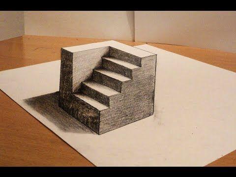 Como Es Posible Dibujo 3d Cilindros Truco Youtube 3d Drawings 3d Art Drawing Optical Illusions Art