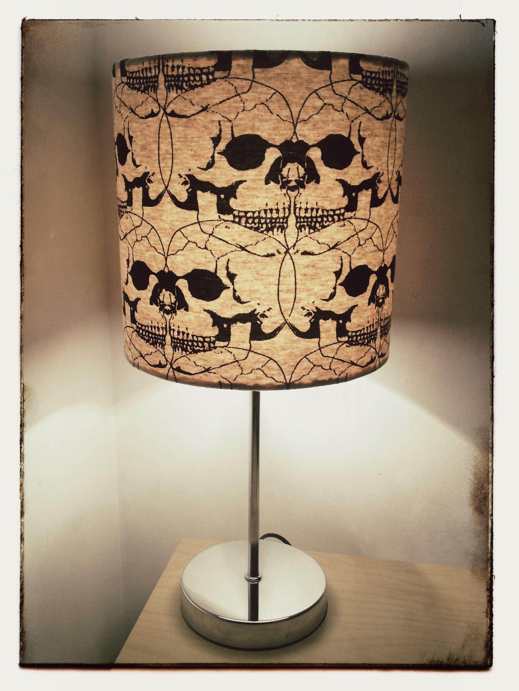 Connected skulls lampshade 20cm drum 10519 decoracin connected skulls lampshade 20cm drum lamps light fixtures rebelsmarket aloadofball Image collections
