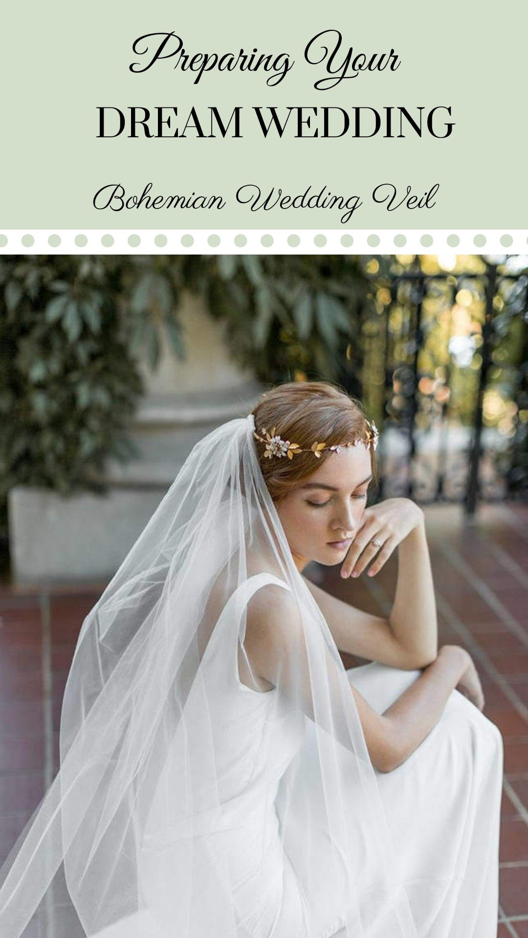 Etsy Flower Crown Veil Boho Veil Bohemian Weddingveil Draped