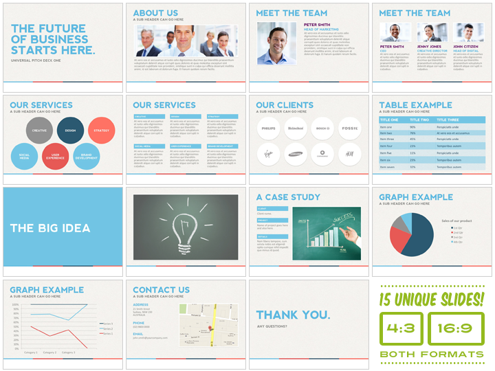 Presentation Templates Product Images  Universal Pitch