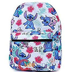 0d8357e8c20 Lilo and Stitch Large School Backpack with Angel 16 AOP Book Bag White Aloha