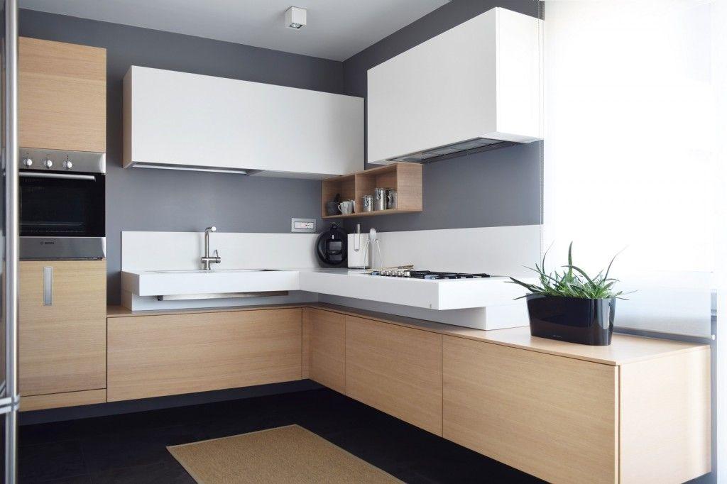 Sottotetto su due livelli con ambienti open space | CUCINA | Cocinas ...