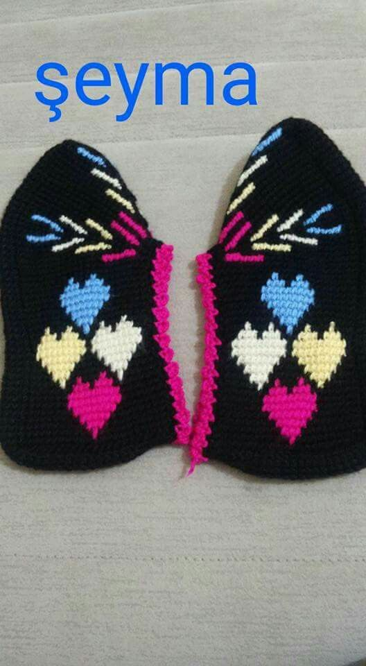 Pin de Loretta Jones Joseph en Tunisian slipper pattern   Pinterest ...