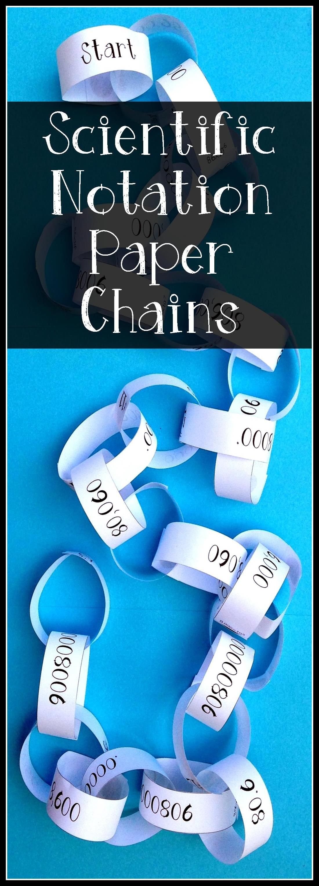 Scientific notation paper chain activity paper chains scientific this paper chain activity is designed to strengthen students skill in converting falaconquin