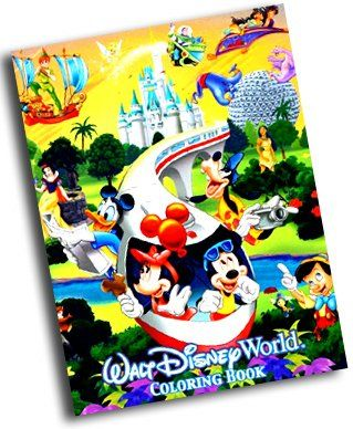Walt Disney World Coloring Book Walt Disney World Exclus Walt Disney Characters Disney Storybook Disney Princess Books