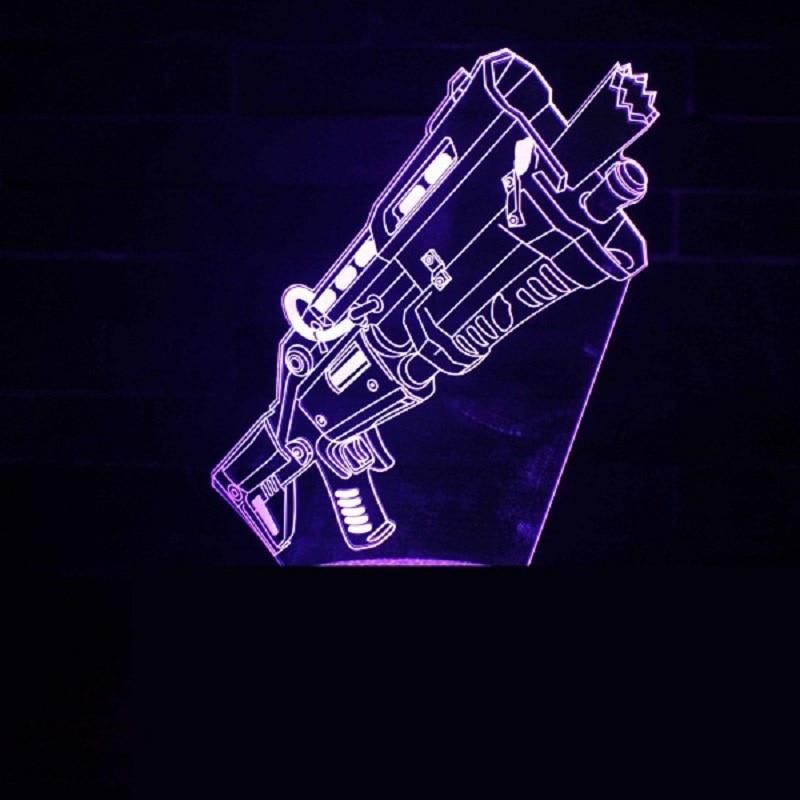 Fortnite 3 D Led Holographic Style Table Lamp 3d Hologram Fortnite Illusions