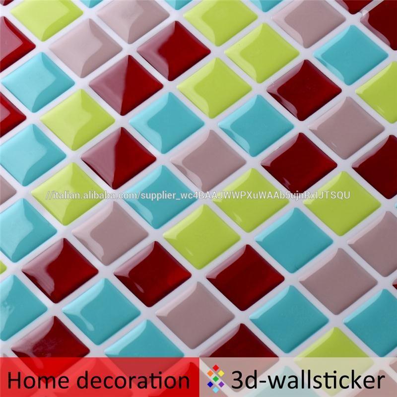 Buon prezzo di alta qualità mosaico design cucina piastrelle adesivi ...
