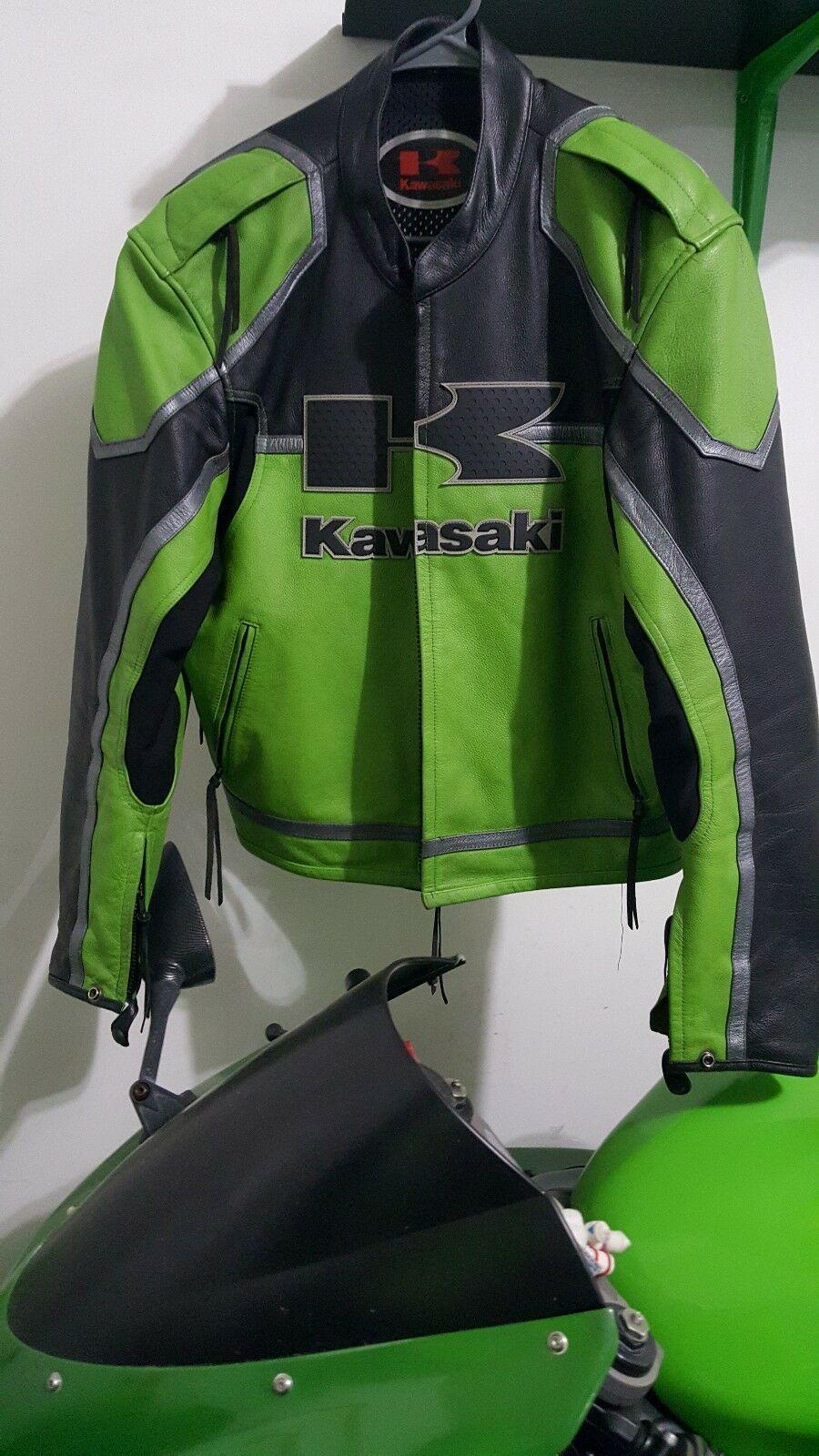 Kawasaki Two Tone Green Black Racing Motorbike Genuine