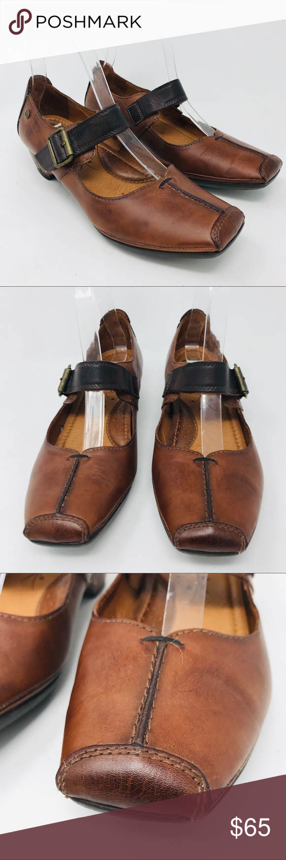 Pikolinos Gandia Brown Mary Janes Shoes Euro 39 Pikolinos Gandia