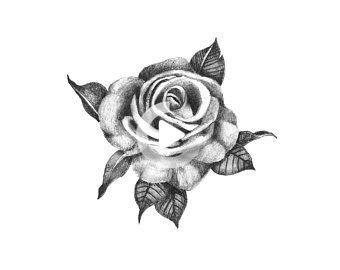 Elegant Rose  Temporary Tattoo / Realistic Rose Tattoo / Rose | Etsy