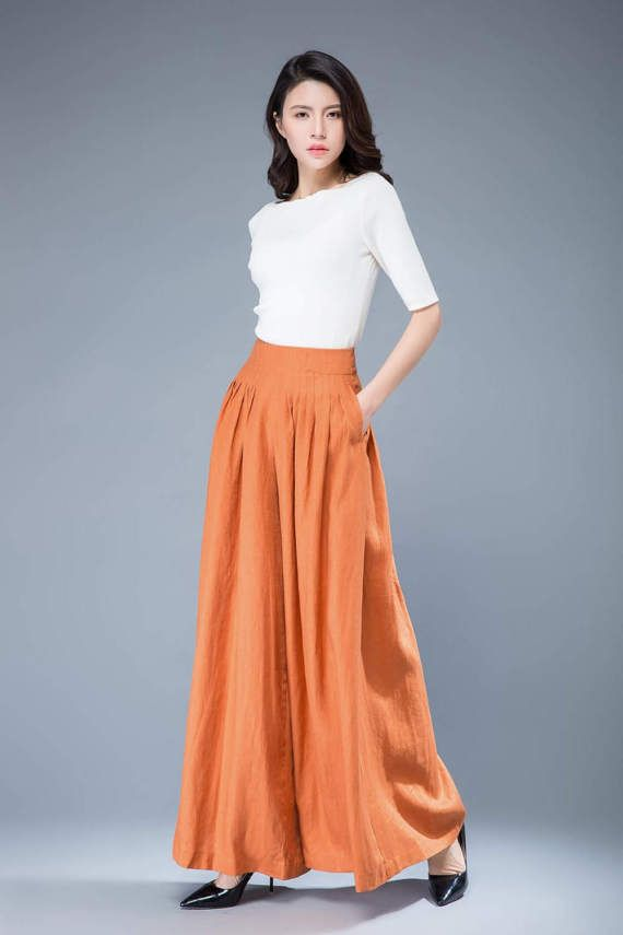 7f8336c8b1078 yellow linen pants loose trousers women loose pants women