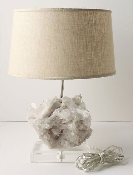 High low and diy rock crystal table lamp