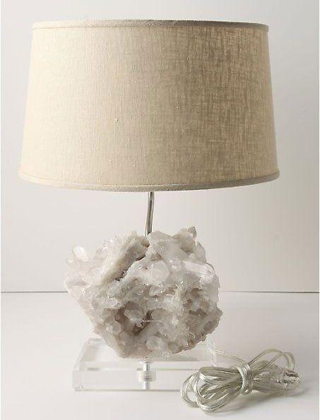 High Low And Diy Rock Crystal Table Lamp Rock Lamp Crystal