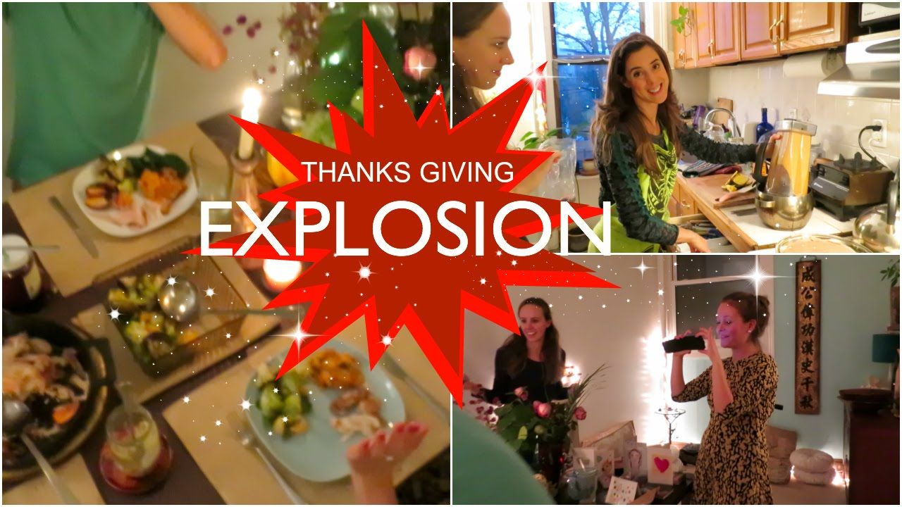 EXPLOSION IN THE KITCHEN ON THANKSGIVING! ...AND a new cake recipe!