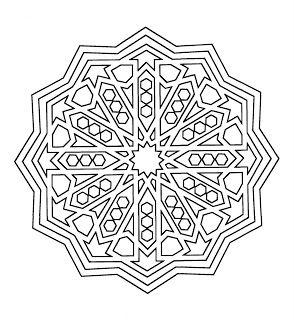 Alhambra coloring pages ~ Mandalas Para Pintar: Mandala de la Alhambra para colorear ...