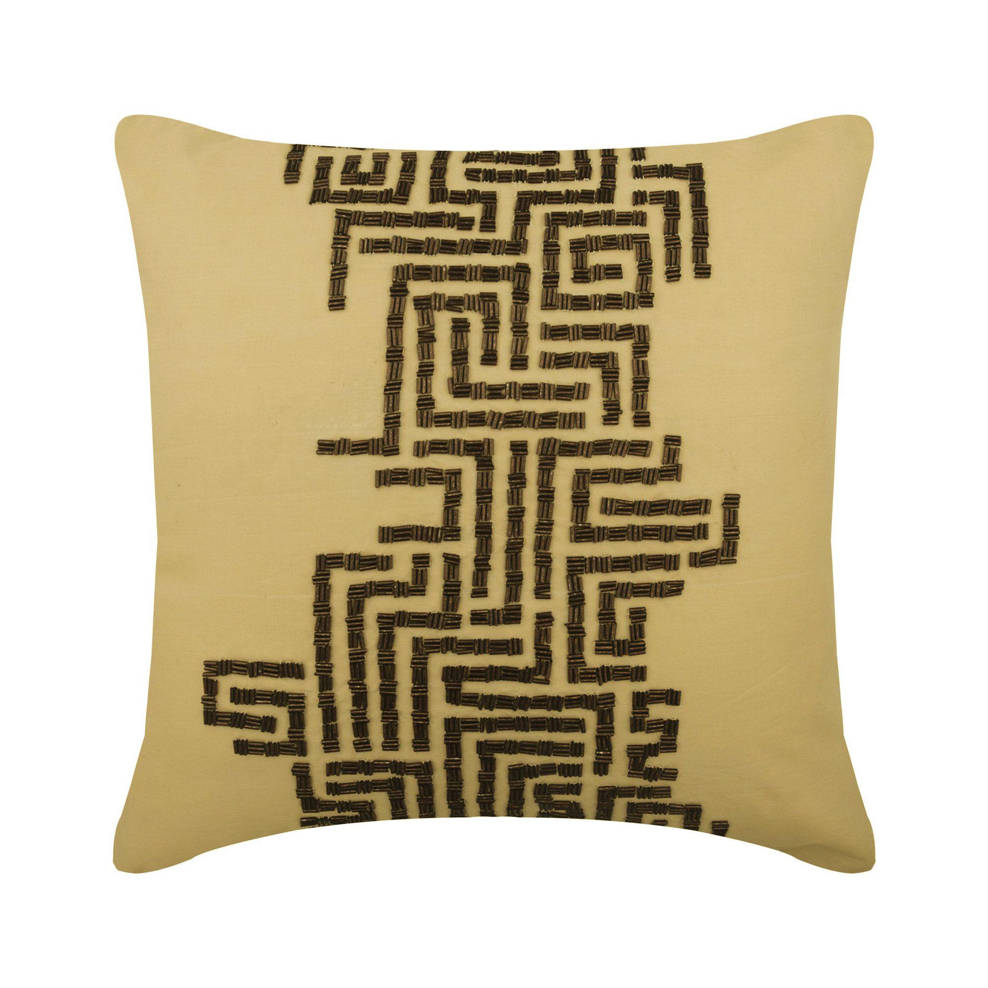 16x16 designer gold sofa cushion cover
