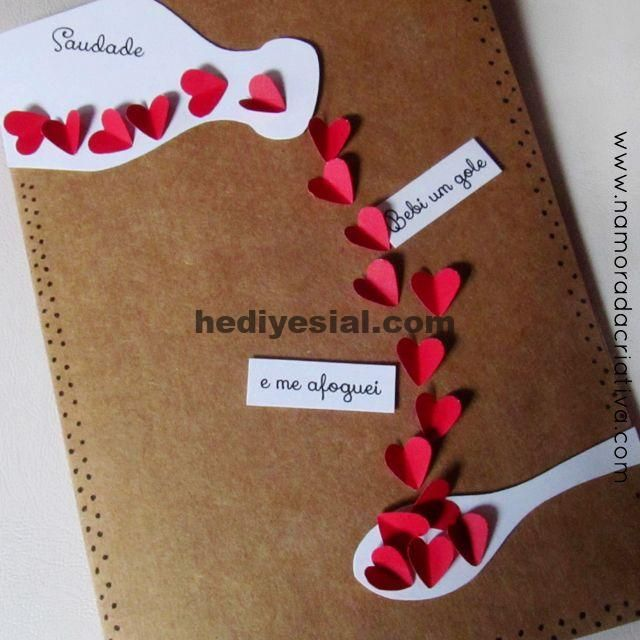 DIY: Karte für den Tag der Saudade ...,  #karte #present #saudade, Geschenk