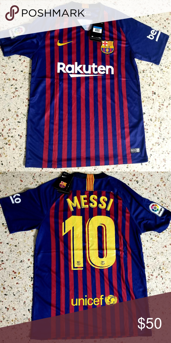f817bbd987 New Messi Barcelona Jersey Season 18-19 Home Messi Jersey Barcelona Home  Jersey LaLiga Jersey New Season Coming Up Nike Shirts Tees - Short Sleeve