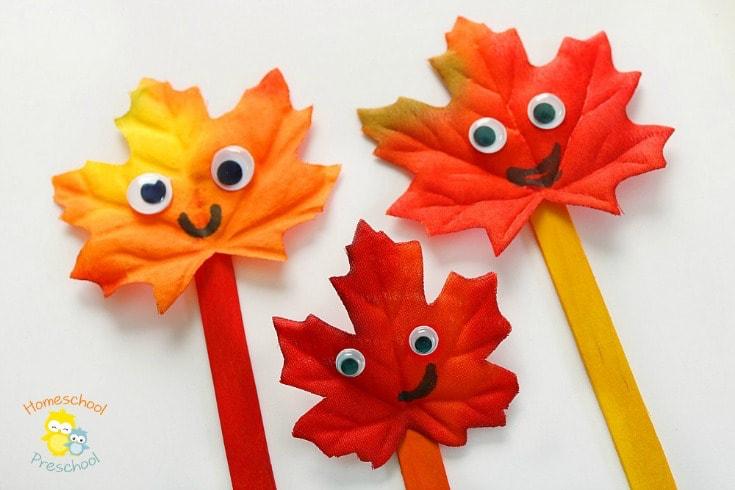 25 Easy Leaf Crafts For Kids and Preschoolers #leafcrafts