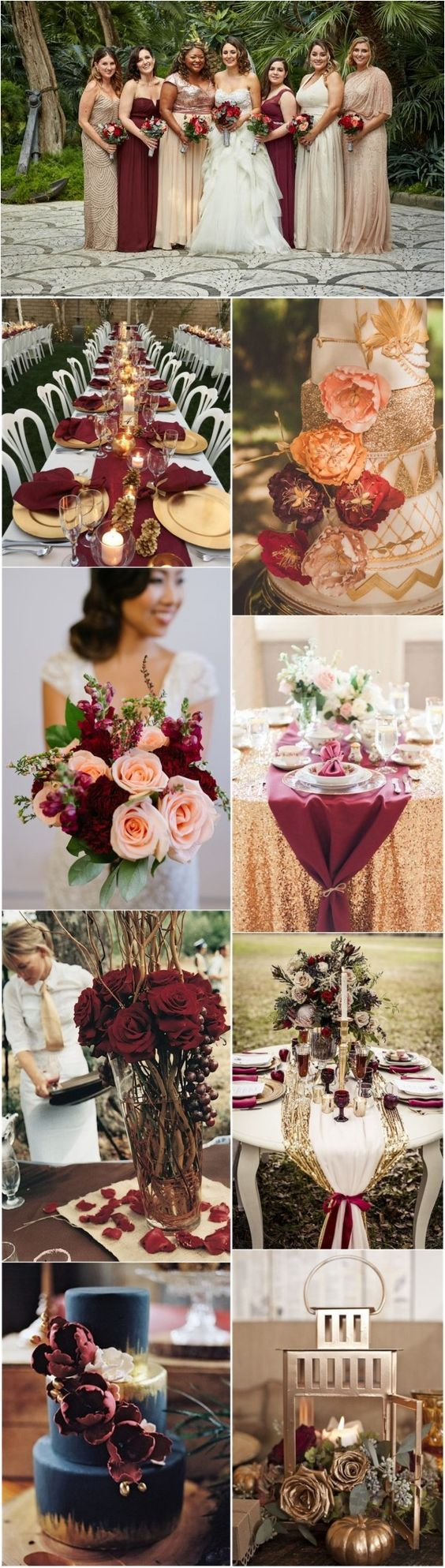 22 romantic burgundy and rose gold fall wedding ideas romantic wedding colors 22 romantic burgundy and rose gold fall wedding ideas see junglespirit Choice Image