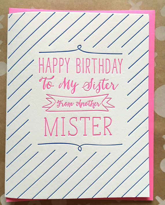 Incredible Best Friend Card Birthday Card Sister From Another By Jdeluce Funny Birthday Cards Online Alyptdamsfinfo