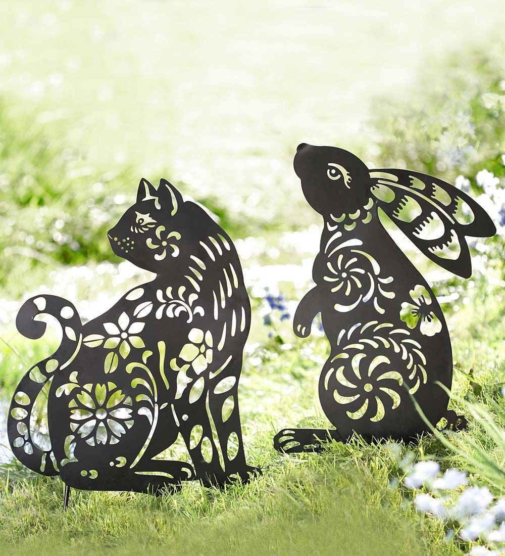 Animal Silhouette Garden Stake In Garden Stakes Gifts