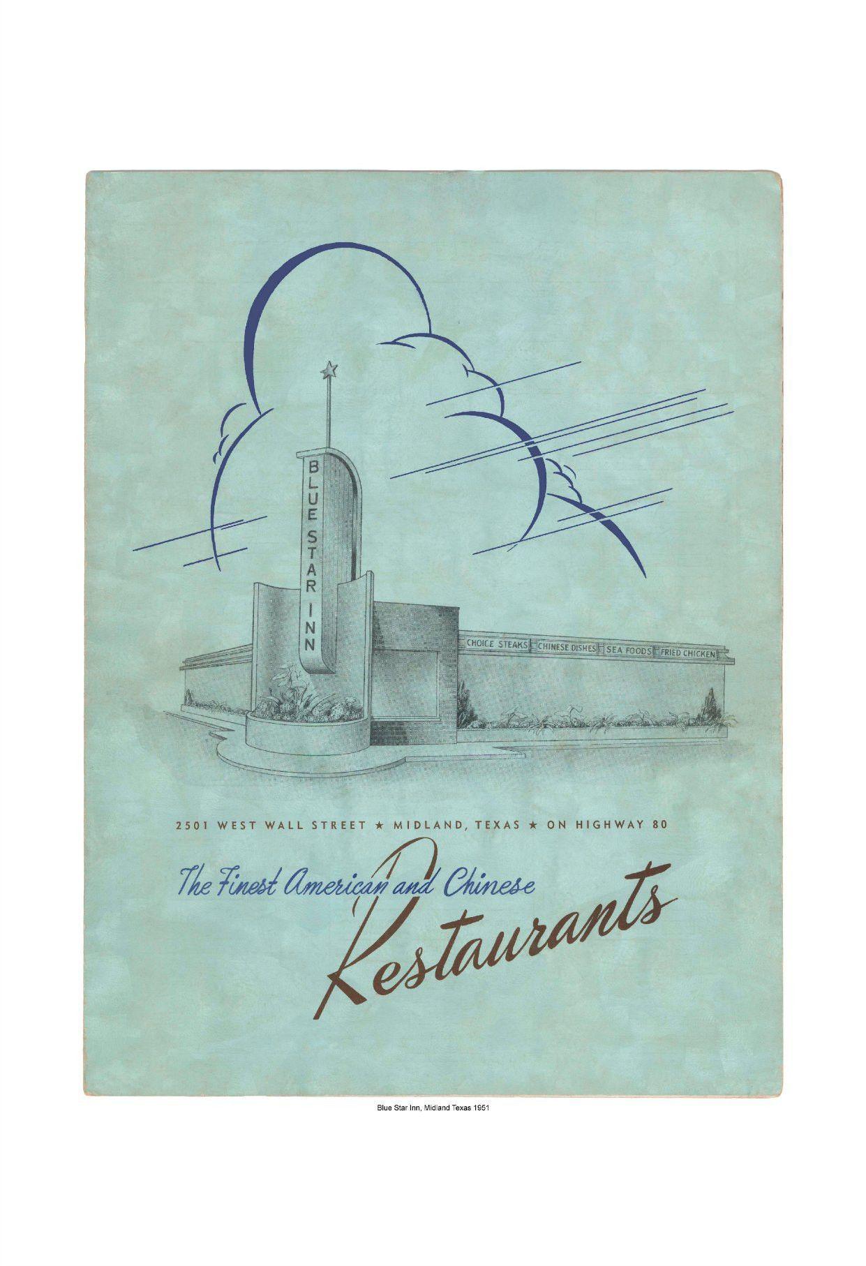 Blue Star Inn, Midland, Texas, 1951 Midland, Midland