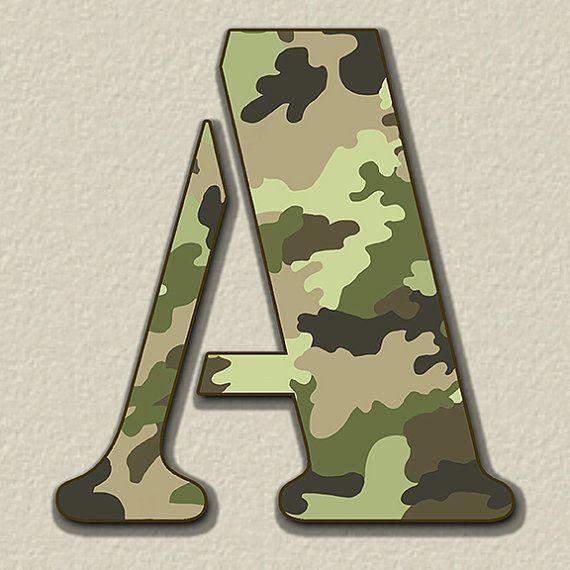 Camouflage Digital Alphabet Camo Alphabet Clipart Printable