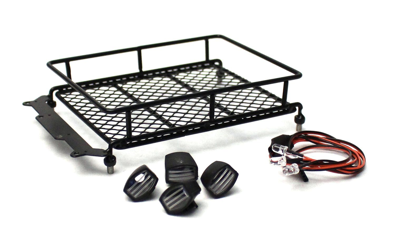 1 10 Scaler Metal Mesh Roof Rack Oval Lights Hot Metal Mesh Roof Rack Metal