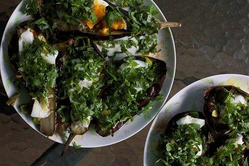 Gutes vom Grill Glut-Melanzani, Thai-Style - Blog Gruß aus der - küche mit grill