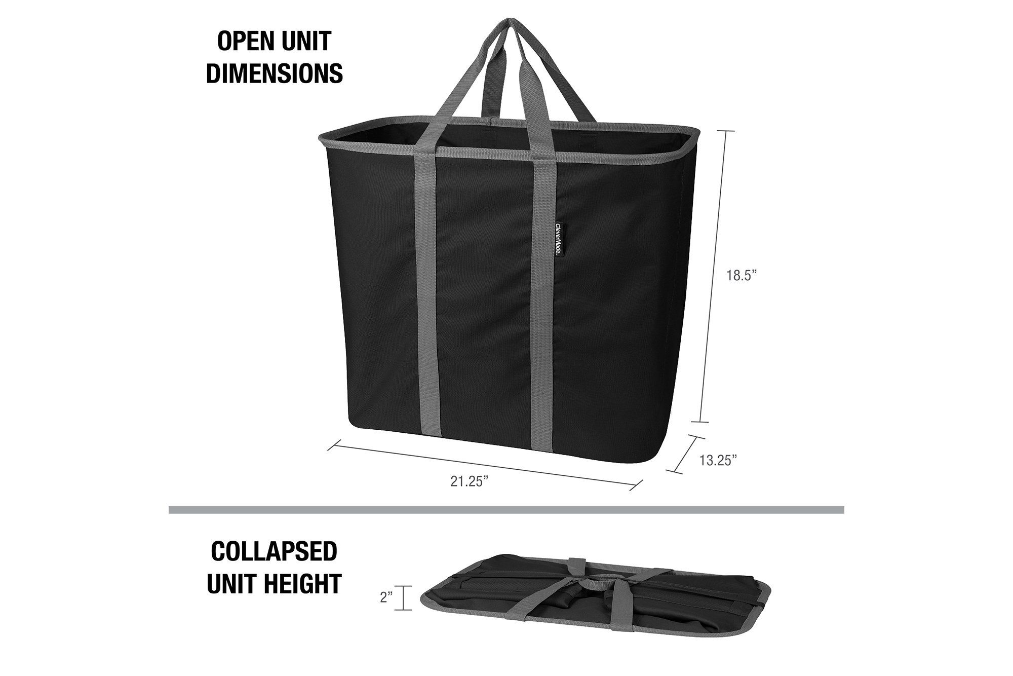 Laundry Caddy Collapsible Laundry Basket Hamper Holds 2 Loads