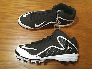 check out d9de8 a5993 NEW Nike Air Swingman MVP 2 Molded Baseball Cleats Shoes Mens 7 7.5 Black  616259