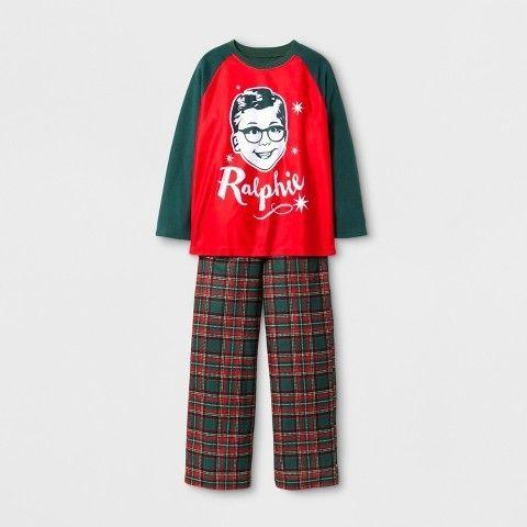 A Christmas Story Boys\u0027 A Christmas Story Ralphie 2pc Raglan Pajama