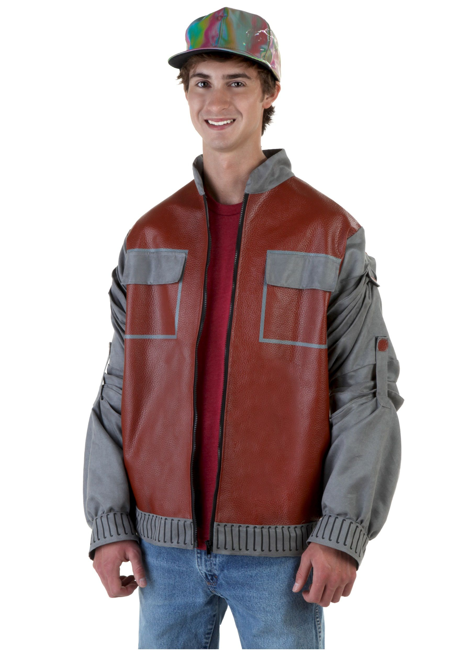 Back To The Future Marty Mcfly Jacket For Men Costume Marty Mcfly Jacket Stylish Jackets Doc Brown Costume [ 2500 x 1750 Pixel ]
