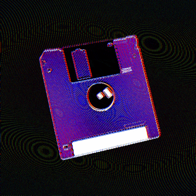 Authentic Digital Art Iridescent Floppy Disk Superrare Floppy Disk Floppy Digital