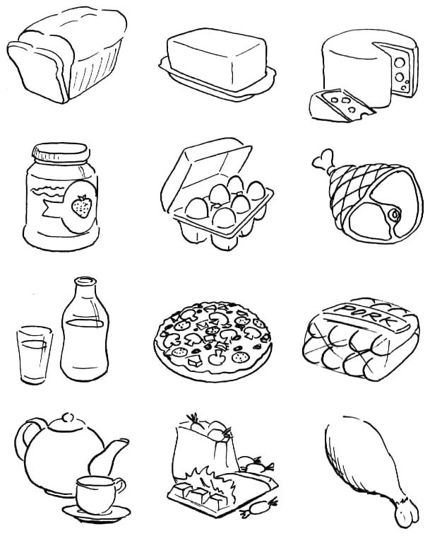Healthy And Nutritious Food Coloring Pages Healthy And Nutritious Food Coloring Pages Food Coloring Pages Free Kids Coloring Pages Food Coloring