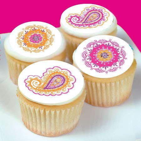 Henna design cupcakes! henna india