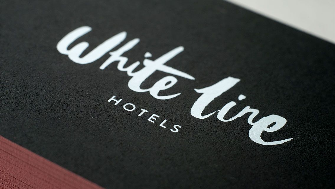 White line hotels business cards travel branding design white line hotels business cards travel branding design graphicdesign typography colourmoves Images