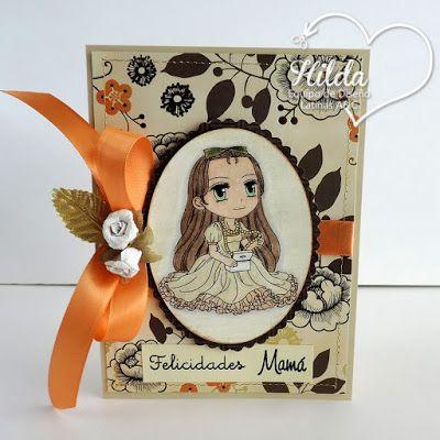 Hilda Designs: Tutorial #32 en LAC: Tarjeta con Sobre digi Sara's Jewellery Box de artbymiran sentimientos de Latina Crafter: La Mejor Madre