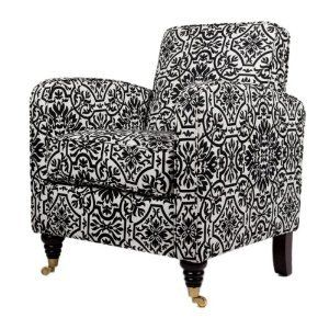Amazon.com: angelo:HOME Grant Chair Black and White Damask: Home & Garden  From amazon.com
