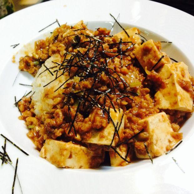vegan_mapoVESSPERA謹製 麻婆豆腐唐揚げ中華セット